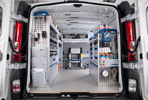 mobiliario de furgoneta para profesionales electricistas mecanicos